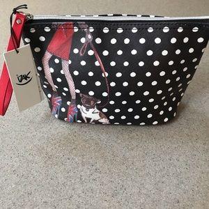 Handbags - iZAK Zenou New York Wristlet Bag Cosmetic Clutch